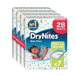 Huggies DryNites 28 Disposable Bed Mats Mattress Protector Pack of 4 x 7 Mats