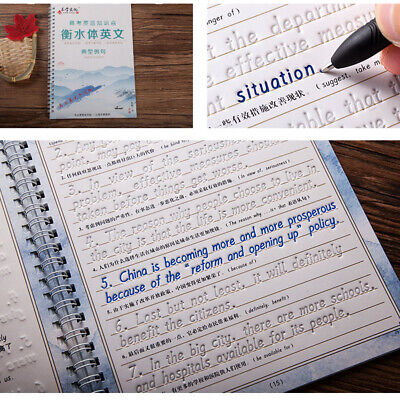 3Pcs Children English Writing Practice Book Groove Copybook English Calligraphy