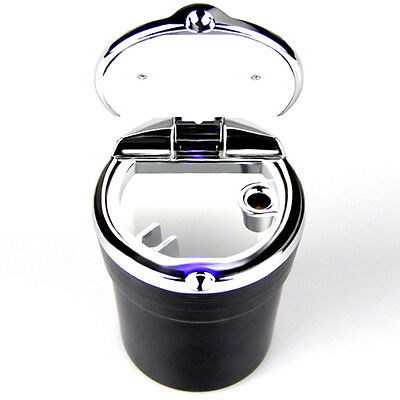 LED Portable Auto Car Smokeless Stand Cylinder Cup Holder Cigarette Ash Ashtray