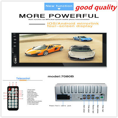 Best Double 2 Din Car Stereo Radio FM/MP5 Player Bluetooth HD 1080P Touch