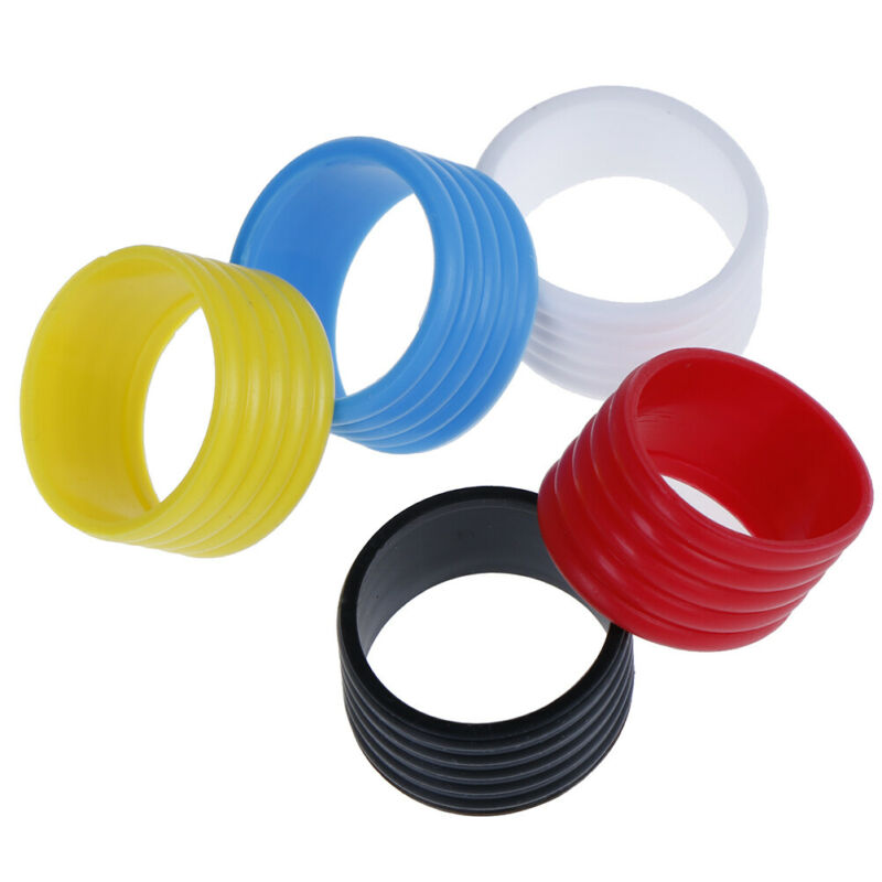 4pcs Tennis Racket Rubber Ring Grip Stretchable Stretchy Handle Rubber Ring UKHD