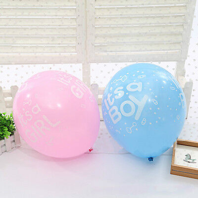 10x Es ist ein Junge / Mädchen Baby Latex Ballons für Geburtstag Baby Shower  W0