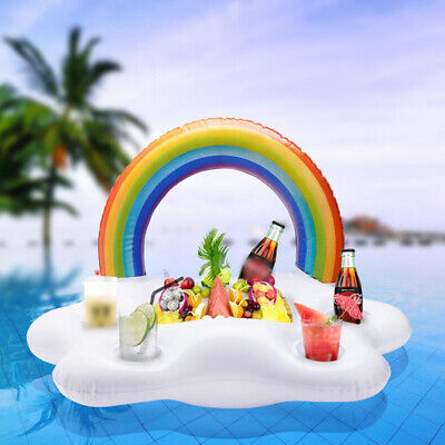 1pcs Novel Inflatable Pool Float Bar Beer Drink Cooler Tray for Pool Water Party