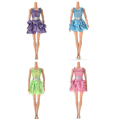 Handmake Mini Vest Dress for  doll with Belt 4 Colors