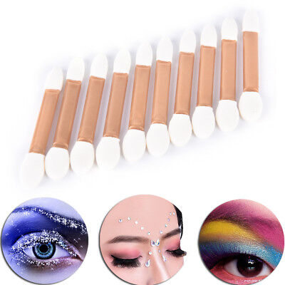 10x Make-up Doppel-Ende Lidschatten Eyeliner Pinsel Schwamm Applikator ML
