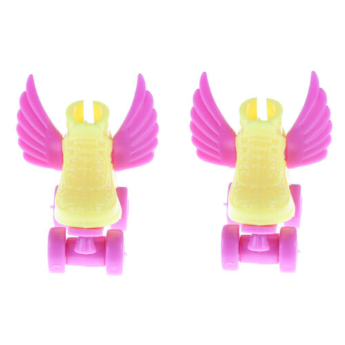 1pair 3cm Roller Skate Fancy Doll Shoes Toys for Girls Christmas Decorative RT2P