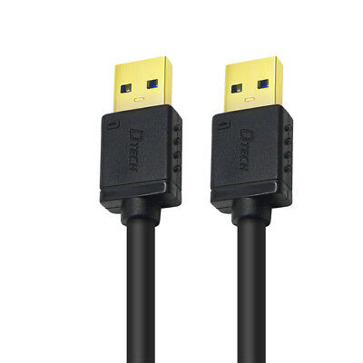 DTECH Short USB 3.0 Type A Cable Male to Male High Speed Data Cord 10 inch Black 10 Inch Usb Cable