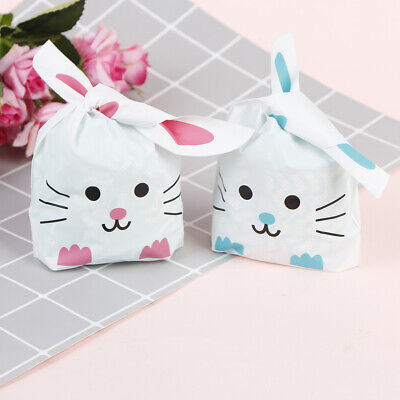 50pcs Cute Long Bunny Rabbit Ear Gift Bag Easter Candy Gift Plastic Party Favors](Easter Gift Bags)