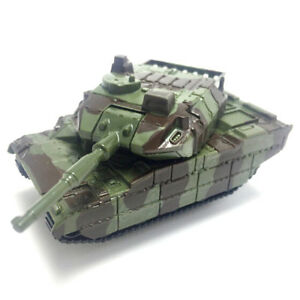 Army Green Tank Cannon Model Miniature 3D Toy Hobbies Kids Educational Gift H&P