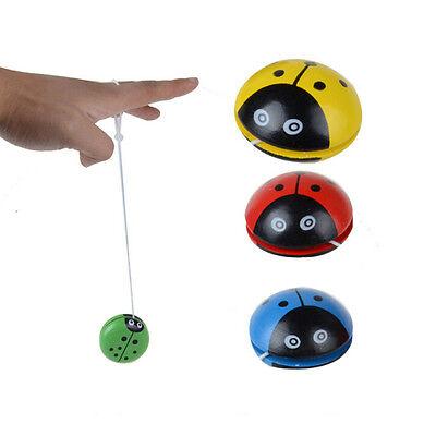 Wooden Ladybird Shaped Yo-Yo Kids Children Educational Toy Gift EBUK