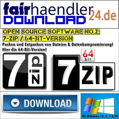DOWNLOAD - 7-ZIP 64Bit 7ZIP UNZIP WINZIP WINRAR RAR  Software Dateien entpacken