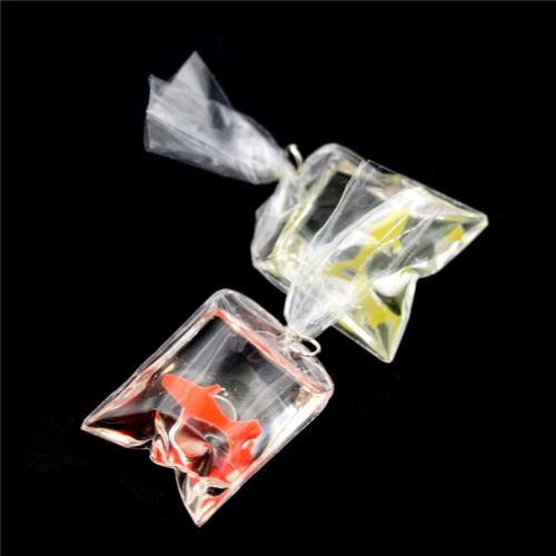 1:12 Dollhouse Miniature Transparent Bag Goldfish Doll Pet Toy Decor SP