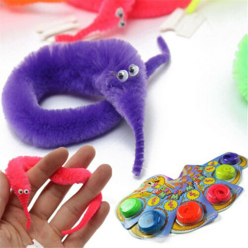 3PCS Kids Magic Twisty Fuzzy Worm Wiggle Moving Sea Horse Trick Toys Gift New