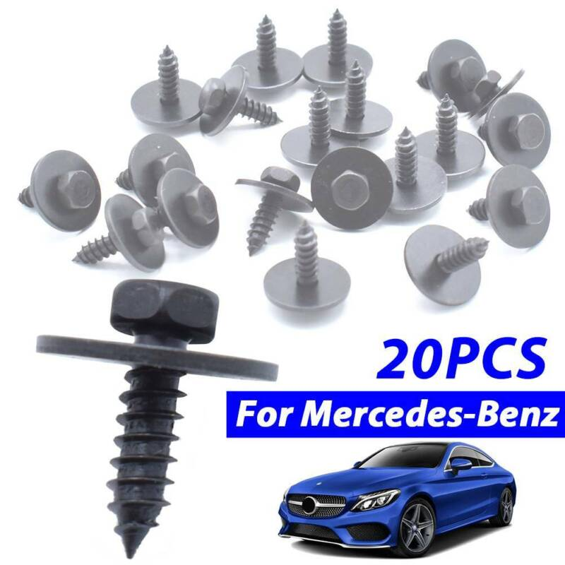 COVER /& GUARD SHIELD METAL BOLT//RETAINER KIT MERCEDES-BENZ ENGINE UNDERTRAY