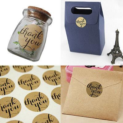 24X THANK YOU Kraft Seal Sticker Label for Wedding Favor/Envelope/Card T Tn