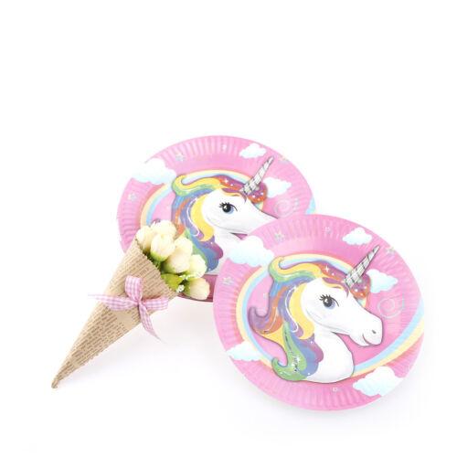 10x piastre unicorno per bambini compleanno baby shower party decor piatto di ca