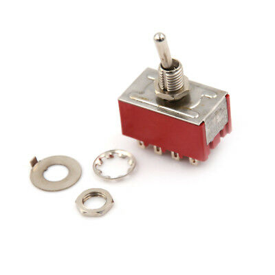 MTS-402 6A/125VAC 2A/250VAC 12 Pin 4PDT ON/ON 2 Position Mini Toggle Switch US.