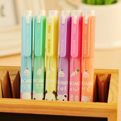 6x Cartoon Cute Creative Highlighter Marker Pen Marker Office School Supplies W