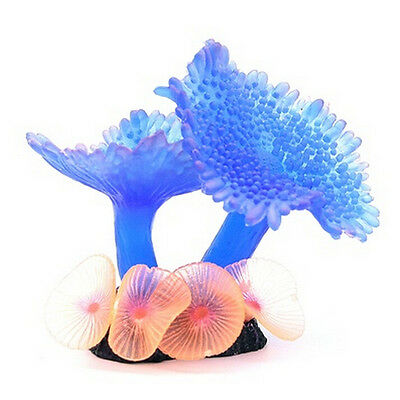 Silicone Artificial Fish Tank Aquarium DIY Ornament Water Decor Plant Coral HI