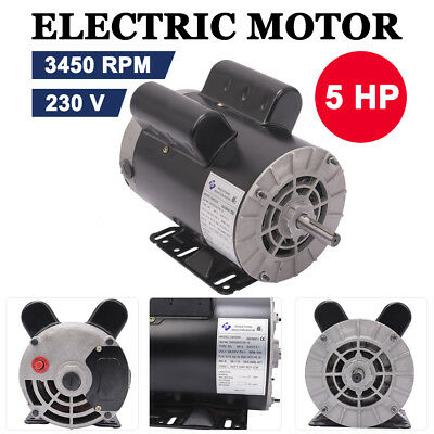 5 Hp 3450 Rpm Electric Air Compressor Duty Motor 56 Frame 58 Shaft 60 Hz 230v