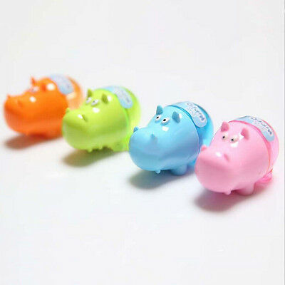 Stationery**Hippo Pencil Sharpener with Two Rubbers Eraser Student Kids Cute  - Cute Pencil Sharpener