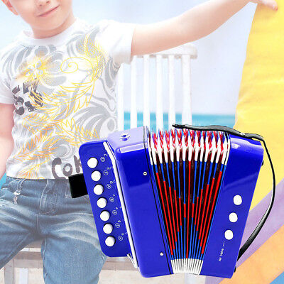 Kids Children Piano Accordion 7 Key 3 Bass Educational Musical Toy Intellgent US