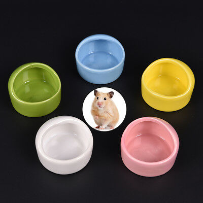 - 1pc Hamster Cute Ceramic Feeding Basin For Pets Pup Dogs Cats Food Bowl BR