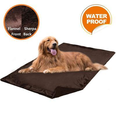 "Waterproof Pet Blanket for Large Dogs 60"" x 40"" Cat Mat Bed Sofa Fleece"