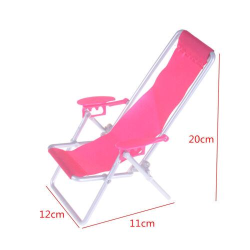 Kid Doll house Furniture Foldable Deckchair toy Dolls Beach Chair toy/_ch
