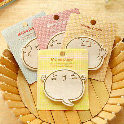 2x Planner Stickers Sticky Notes Cute Stationery Supplies Memo Pad Stick Wdawa