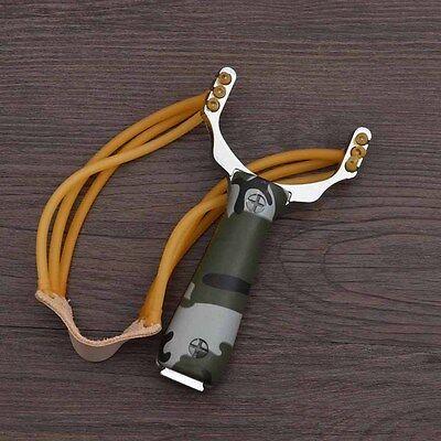 Sling Shot Aluminium Alloy Slingshot Camouflage Bow Catapult Outdoor Hunting Zj