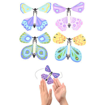 (Magic flying butterfly Surprising Gift Wind up Magic Kids Toy Creative Gift_c)