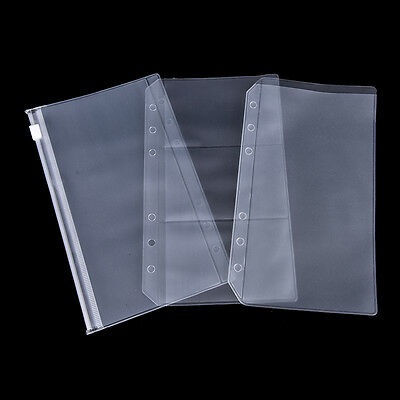 A5a6 Clear Zip Lock Envelope Binder Pocket Refill Organiser Stationery Mrz