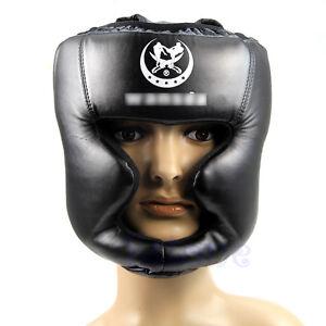 Kick Boxing Trainning Helmet Good Headgear Head Guard Pretection Gear Black