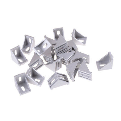 20pcslots 3030 Corner Fitting Angle Aluminum Connector Bracket Faste Jkhwc