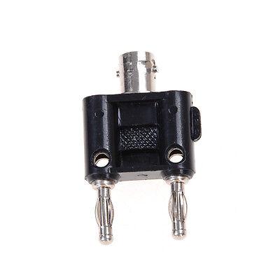 Bnc Female Jack To Two Dual Banana Male Plug Rf Adapter Connector Ez