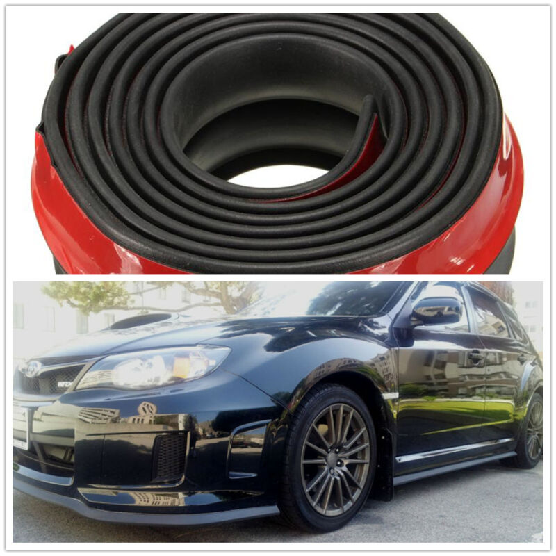 250cm Car Front Bumper Spoiler Lip Kit Splitter Valance Chin Protecter Strong