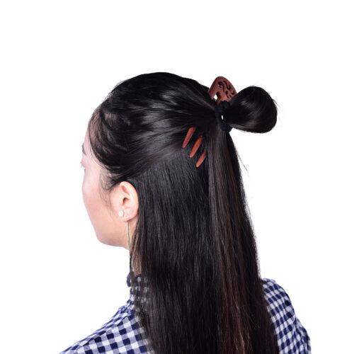 "5.70/"" Carved Ebony Wooden Sandalwood Hair Pin Stick Original Retro Women Lady KS"