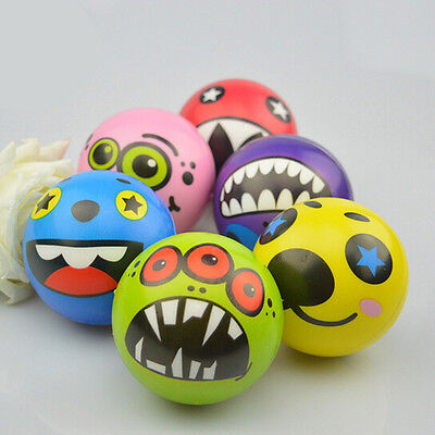 Strange Face Balls Hand Wrist Finger Exercise Stress Relief Therapy Squeeze BR