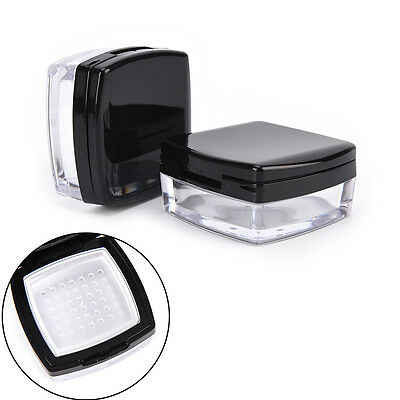 10G Empty Cosmetic Sifter Loose Powder Jar Container Puff Box Makeup Travel Qw