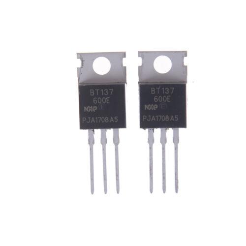 10pcs BT137-600E 8A/600V SCR Thyristor Sensitive Gate Triacs $B