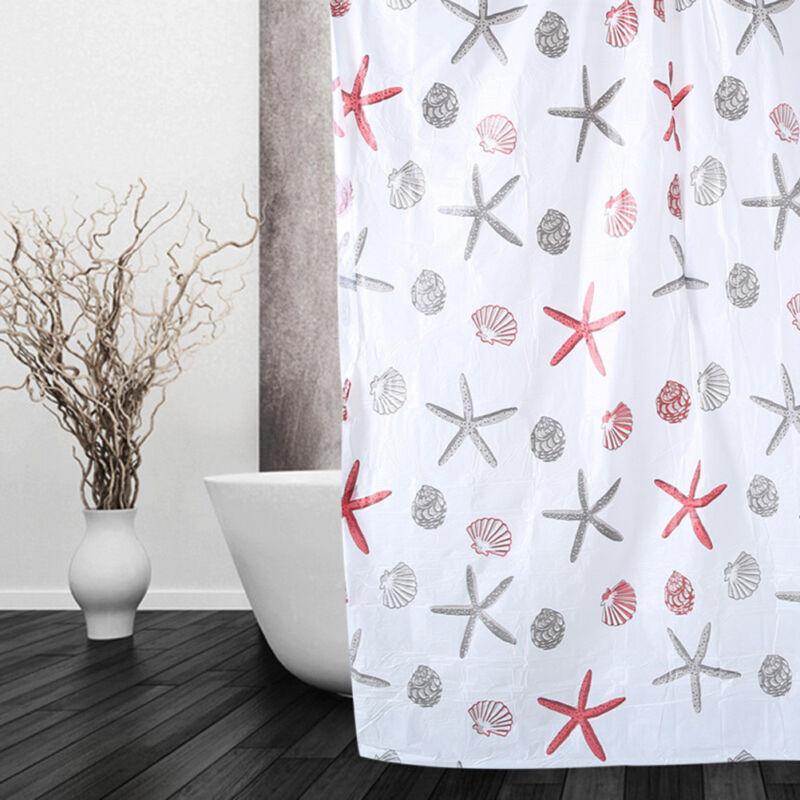 Shower Curtain Bathroom Waterproof Polyester Fabric Random P