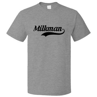 Funny Milkman Retro Old School T shirt Tee](Milkman Shirt)