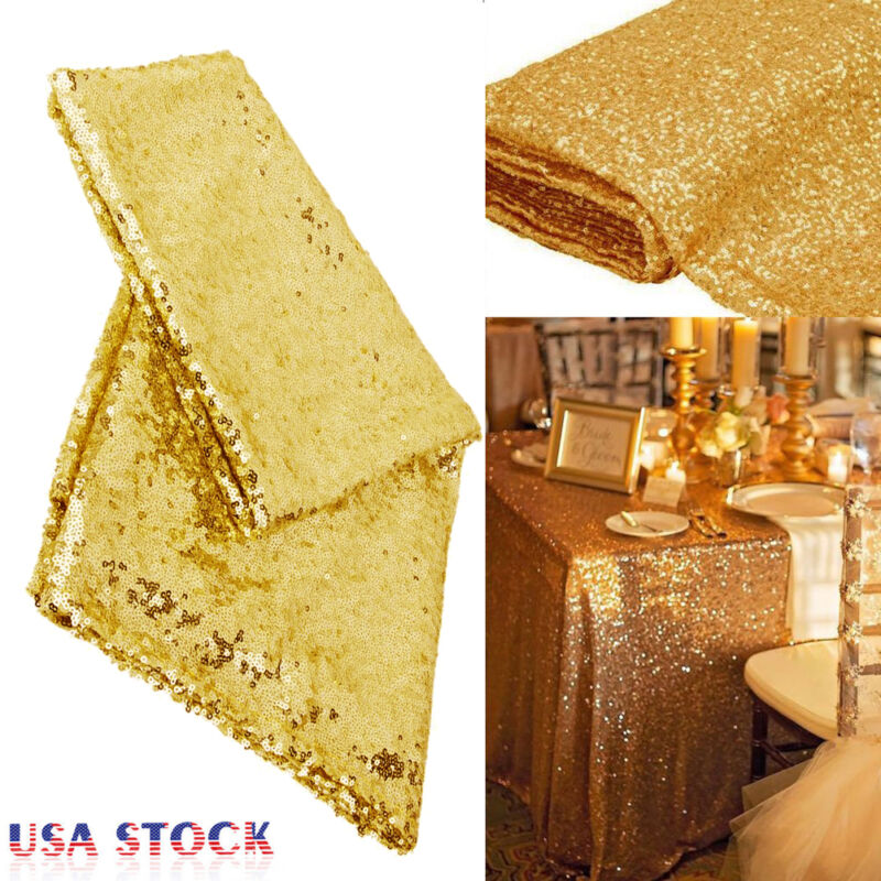 Rectangular Sequin Tablecloth Table Cloth Wedding Party