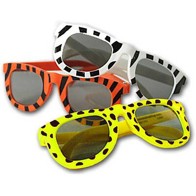 Safari Jungle Animal Print Sunglasses Shades Zebra Giraffe Tiger Party Favor Kid (Jungle Parties)