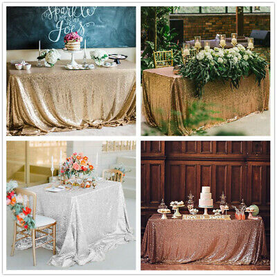 Glitter Table Cloth (Sequin Glitter Tablecloth Rectangle Table Cloth Cover Banquet Party)