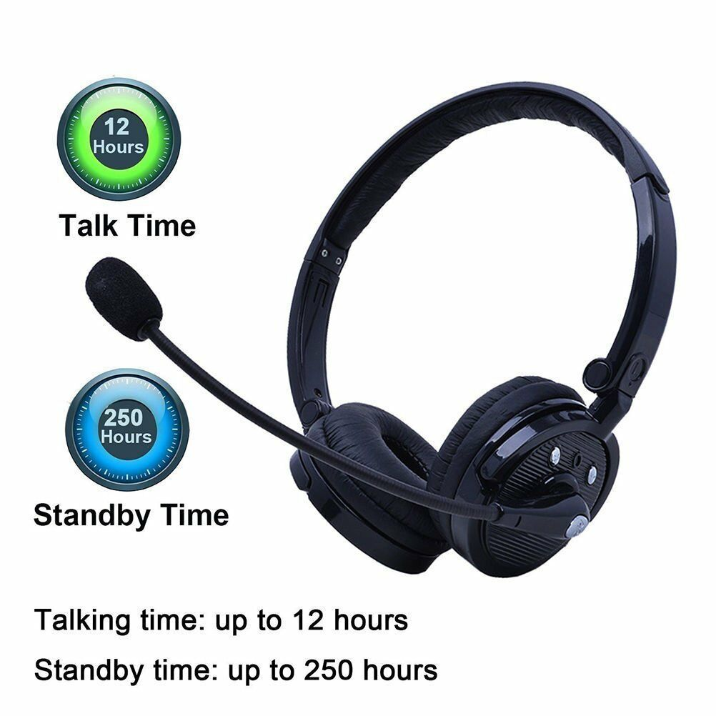 Bluetooth Headphone Wireless Headset With Mic For Iphone X 8 7 Pc Mac Ps3 Gaming Ebay