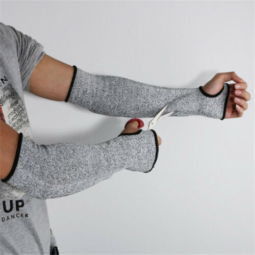 Safety Anti Heat Cut Resistant Sleeves Arm Guard Protector Gloves Pip In UK