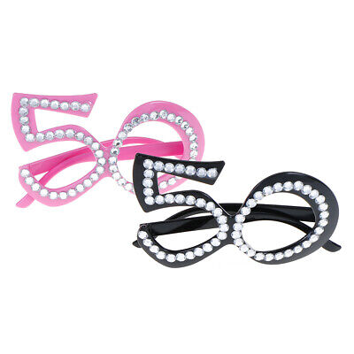 Glasses Costumes 50th Birthday Photo Booth Props Birthday Party Supplies WU