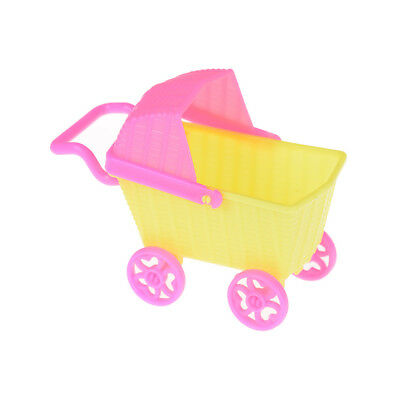 Double Stroller For Dolls (Plastic Stroller Double Pram Accessories for  Doll KelBH Dollhouse Toy)